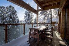 Chalet Aussicht Balkon Winter Turrach
