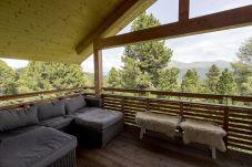 Terrasse Chalet Couch Aussicht