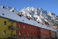 Außenanlage Winter Schnee Berg Appartements
