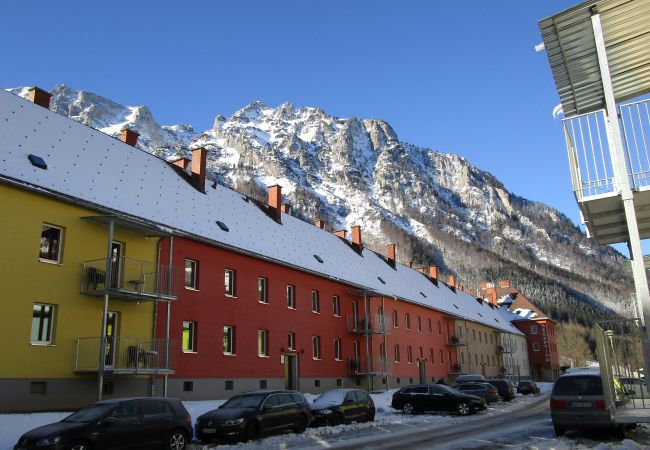 Außenanlage Appartements Winter Berge